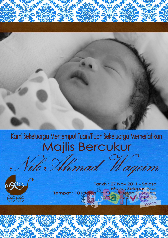 Majlis Bercukur Jambul Invitation Card Its More Than Just