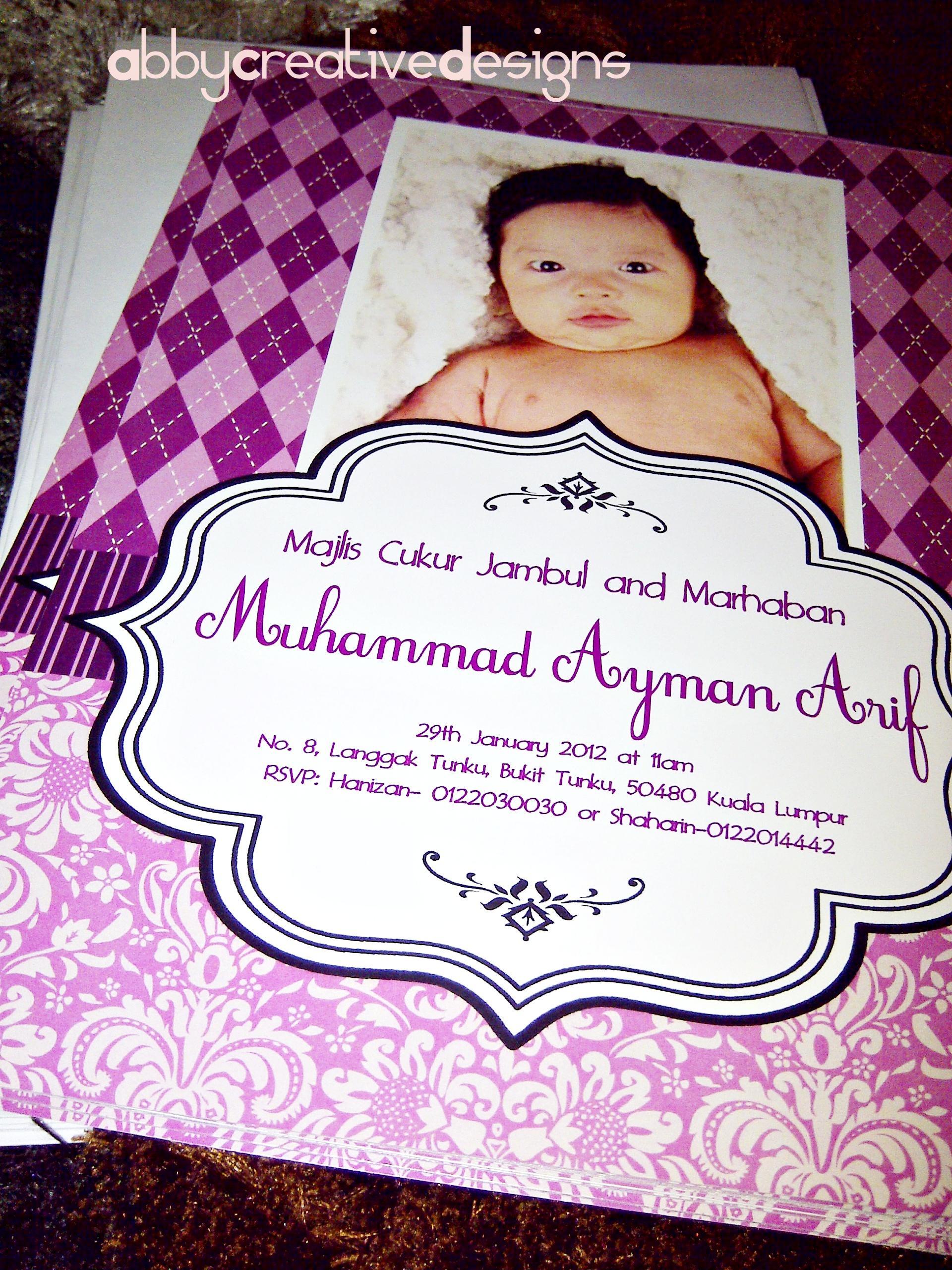 Invitation Card Majlis Aqiqah Marhaban Its More Than
