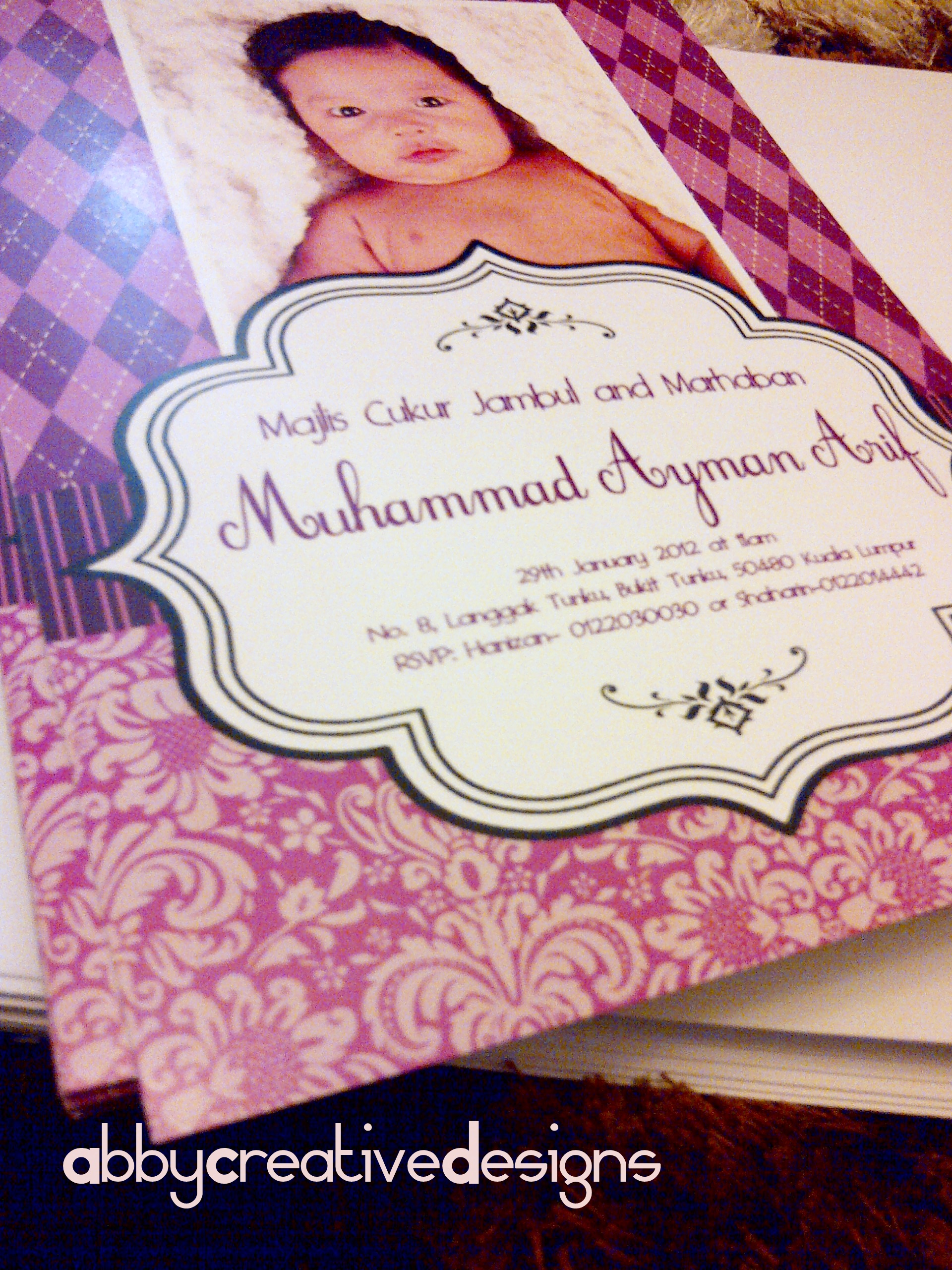 Invitation Card Majlis Aqiqah & Marhaban – Its More Than ...