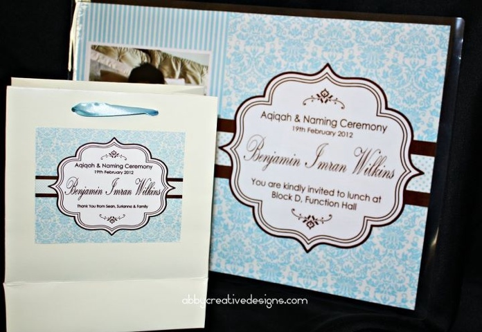 Theme Classic Exclusive Aqiqah Naming Ceremony Its More