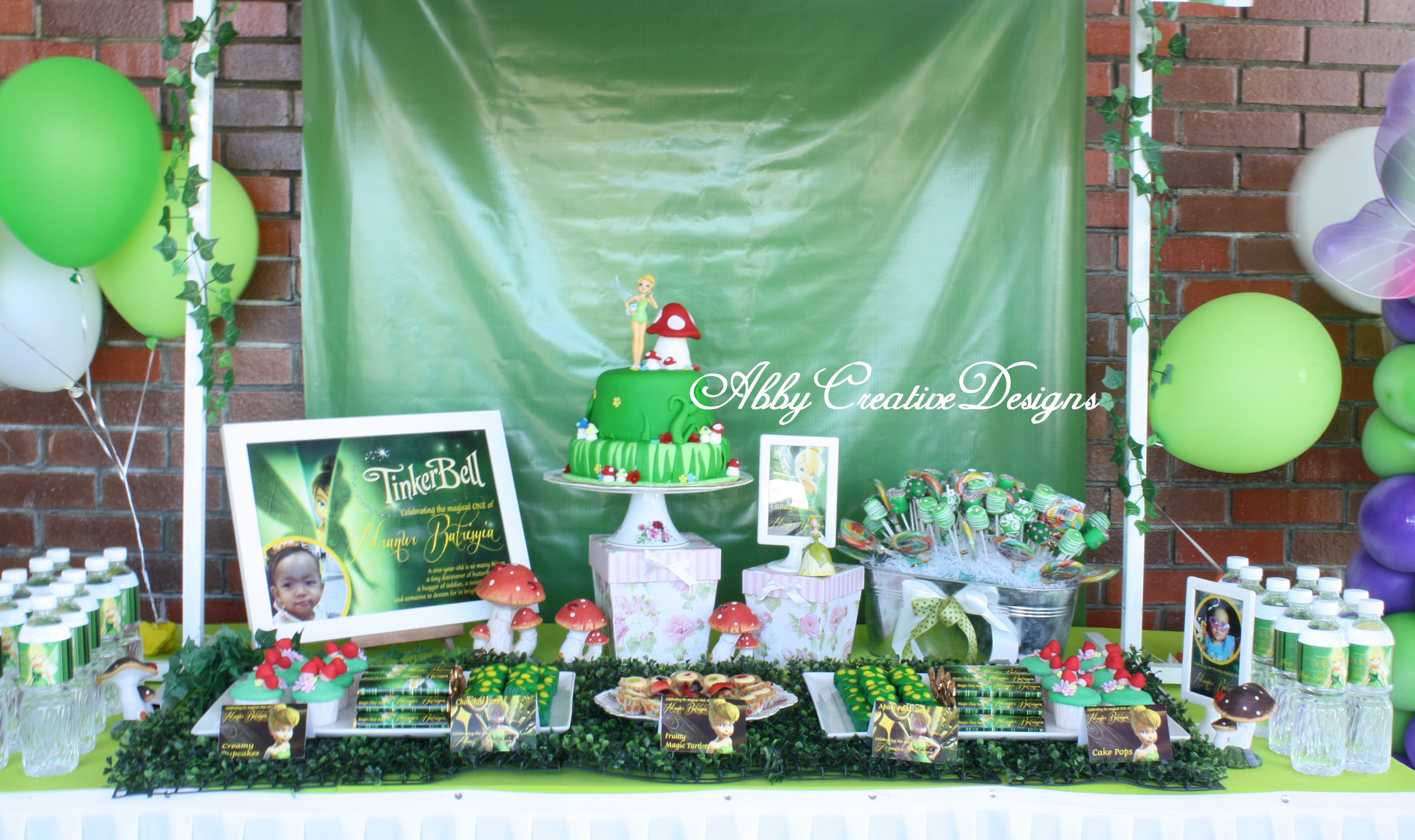 Tinkerbell First Birthday Decorations ~ Image Inspiration of Cake ...