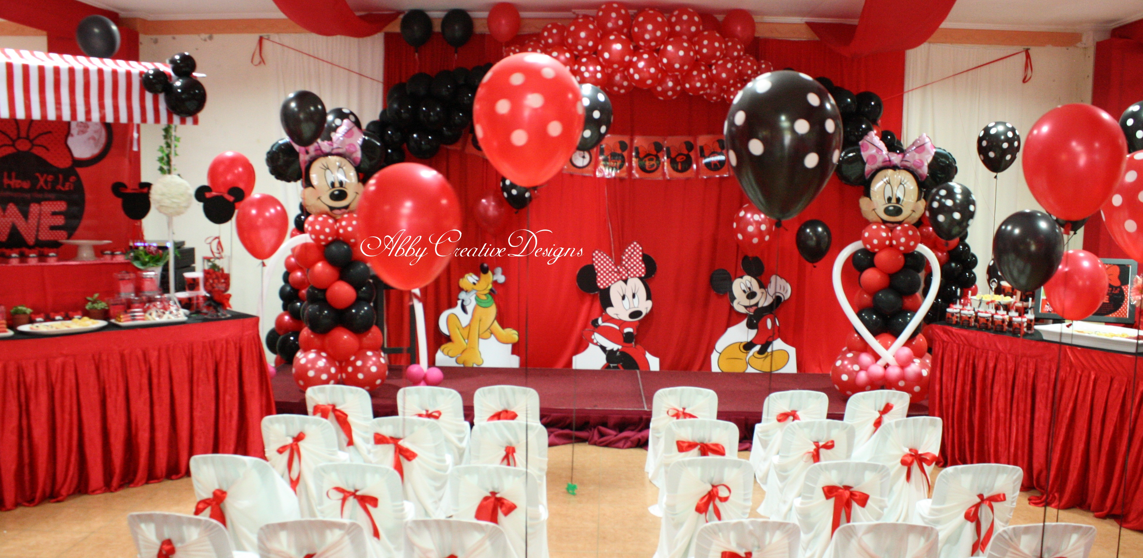 Minnie Mouse Theme Party Abby Creative Designs By Abby Sue