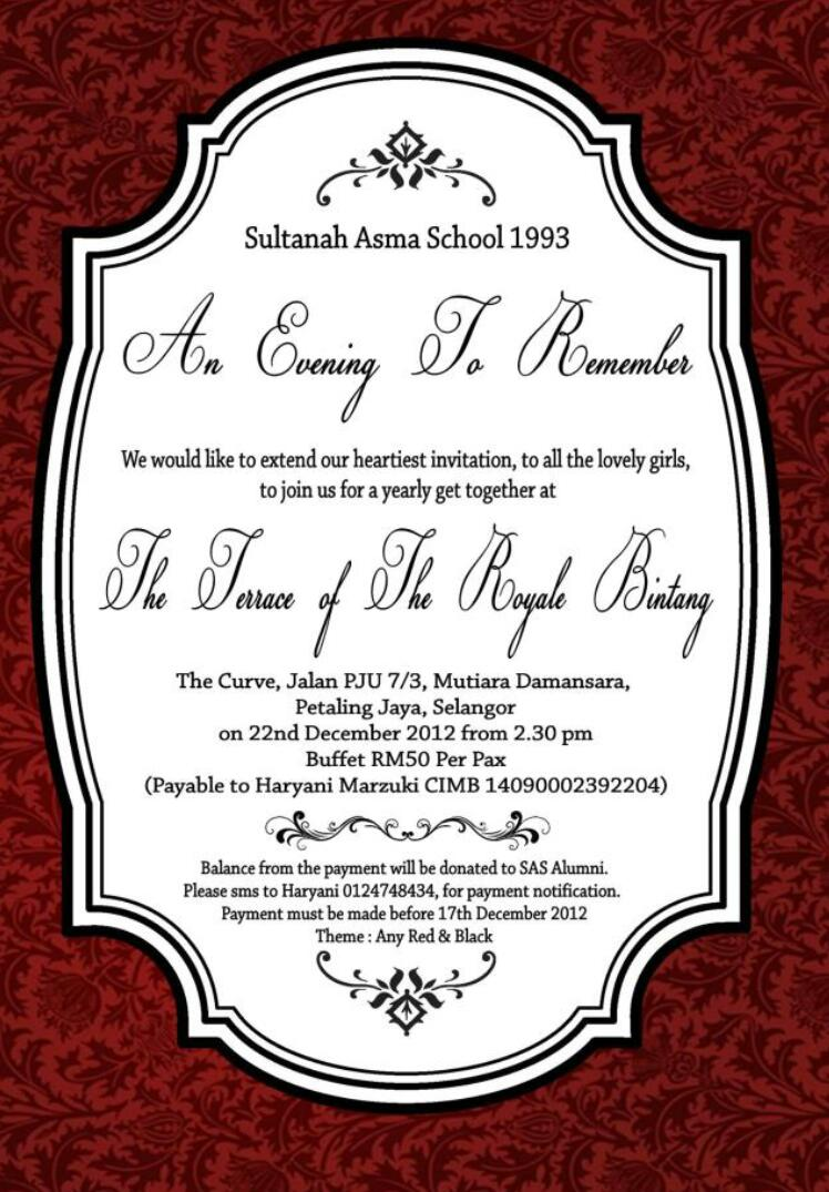 Reunion invitation card its more than just a party image stopboris Image collections