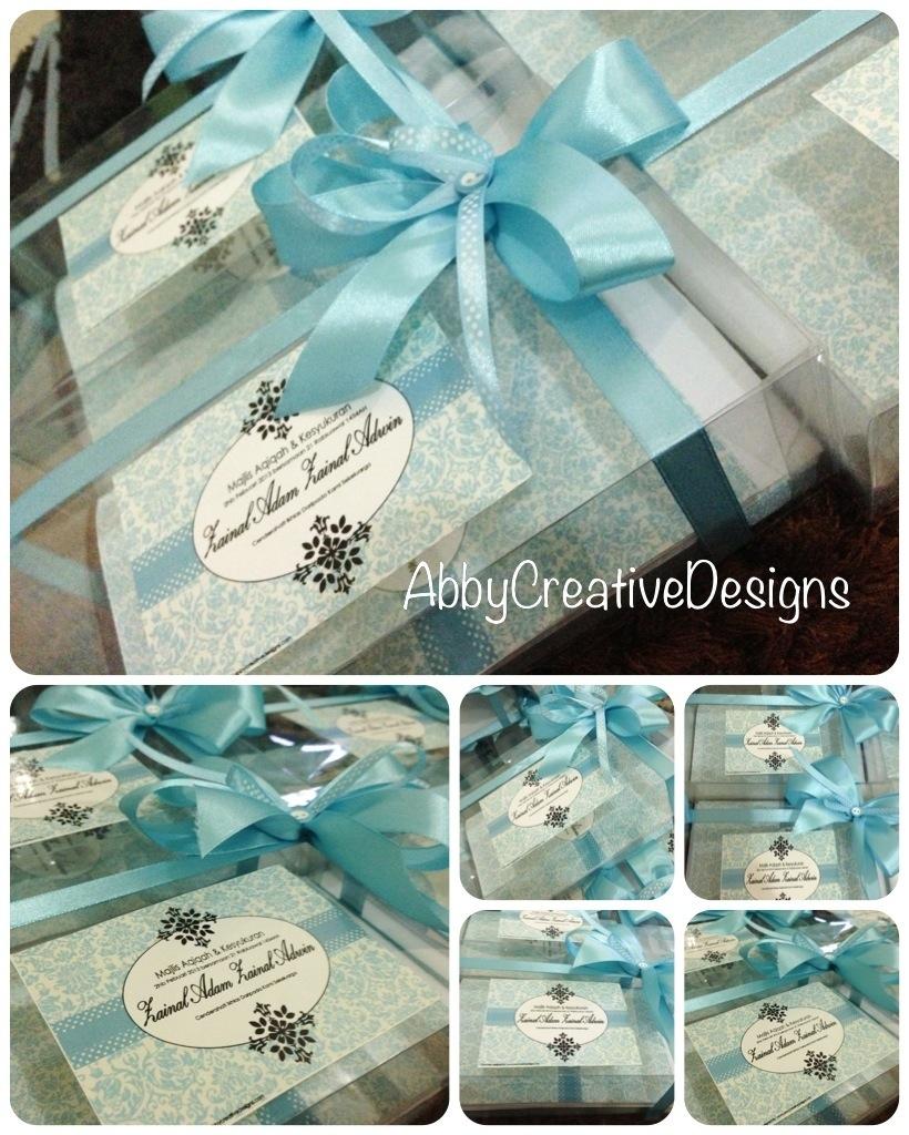 Majlis cukur rambut abby creative designs by abby sue for Idea door gift cukur jambul