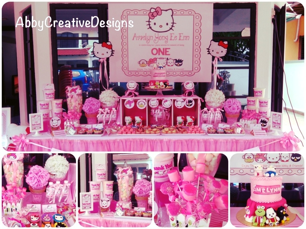 Hello Kitty Theme 1st Birthday Party Its More Than Just A Party