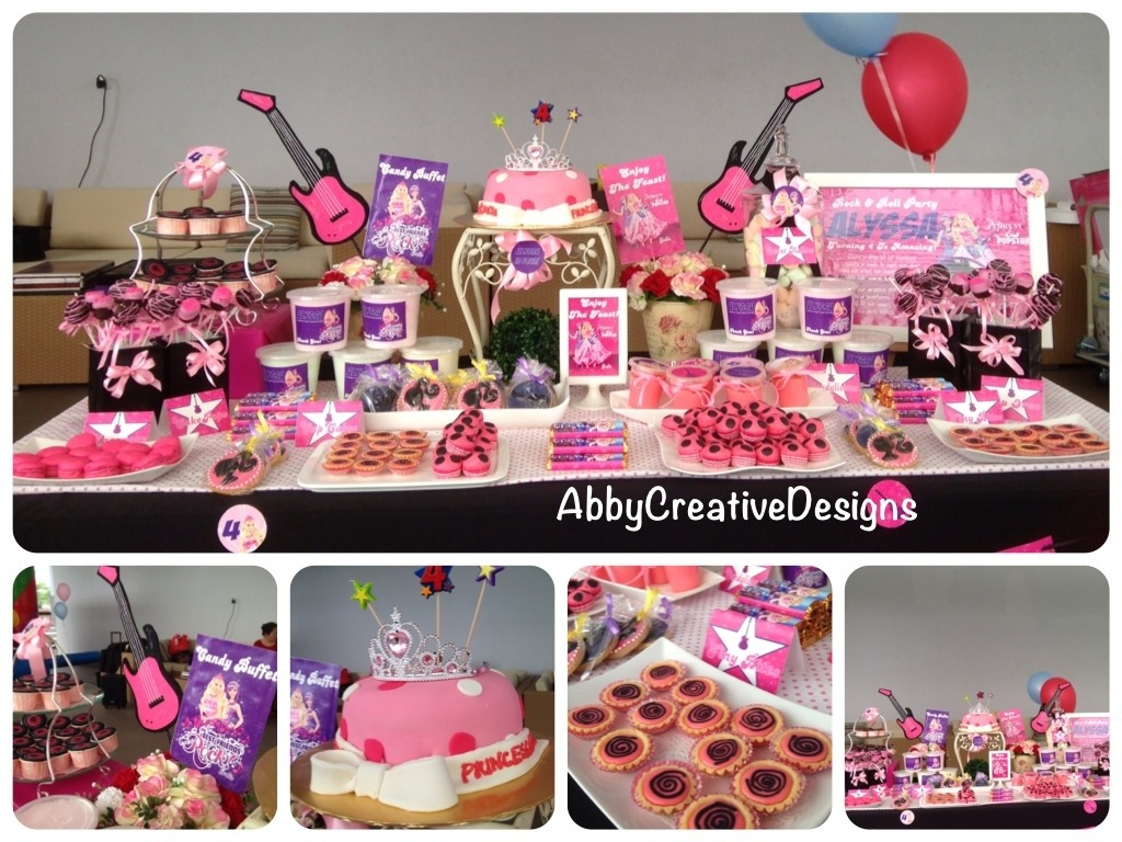Remarkable Barbie The Rockstar 4Th Birthday Its More Than Just A Party Interior Design Ideas Clesiryabchikinfo