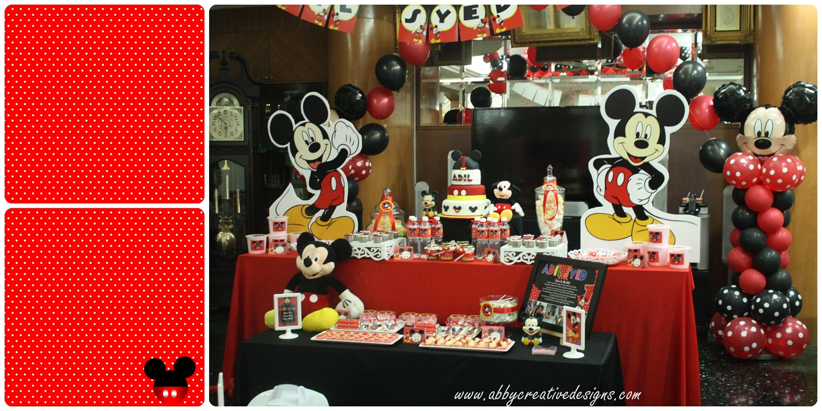 mickey mouse 1st birthday party Kaysmakehaukco