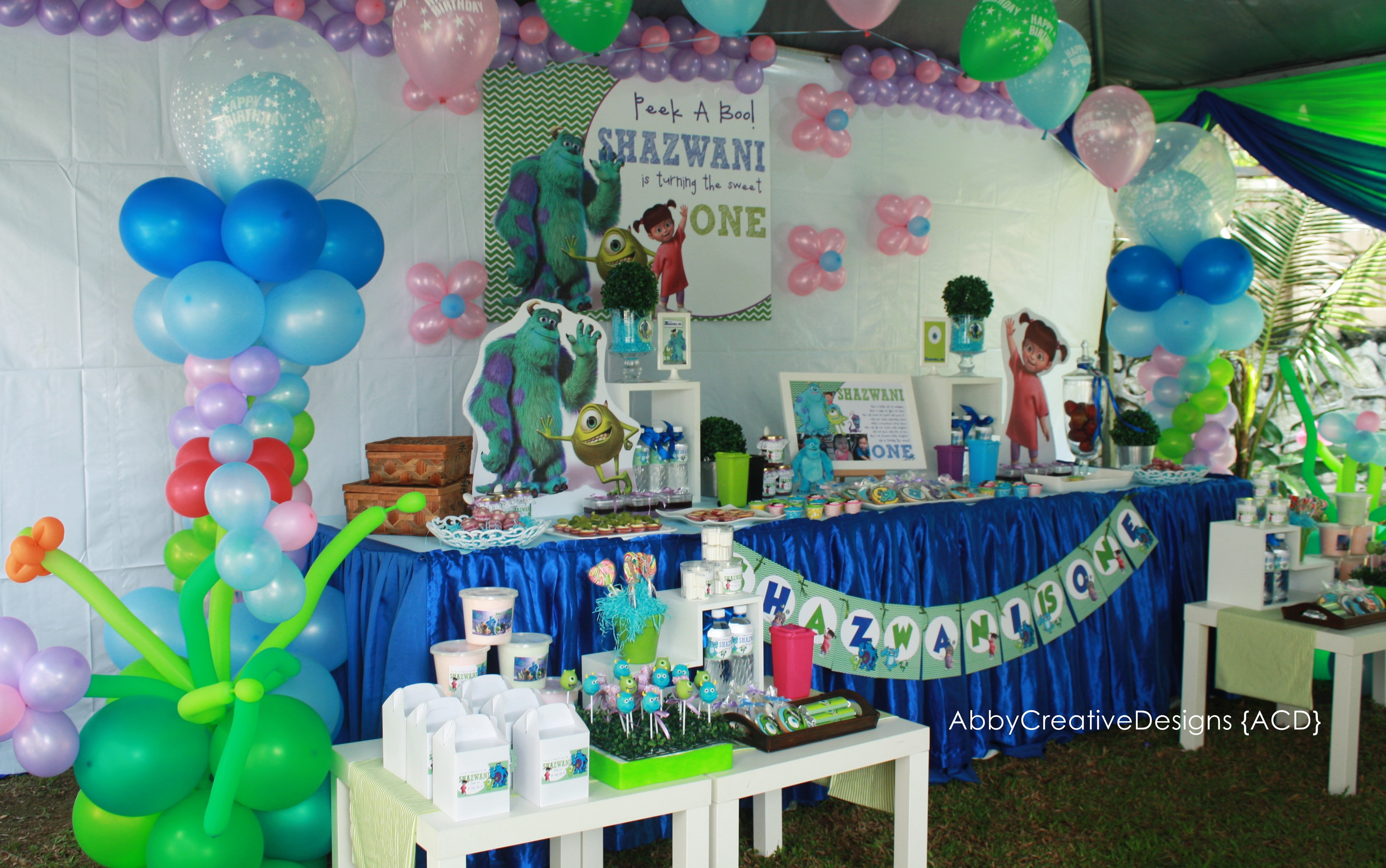 Monsters Inc First Birthday Party Supplies