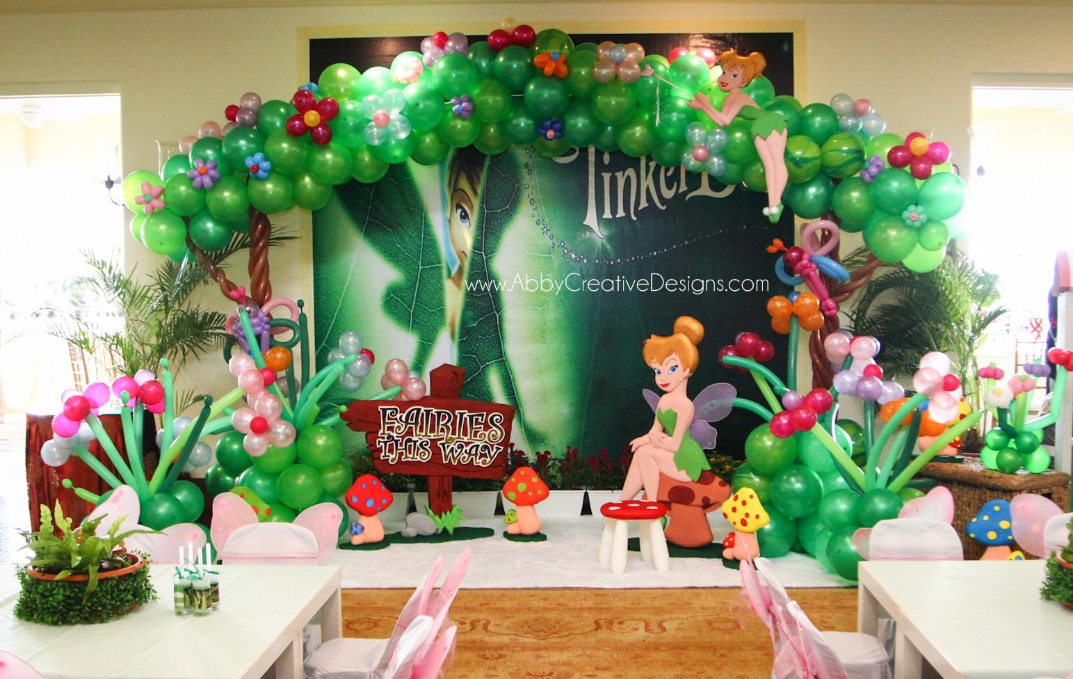 theme tinkerbell for aishas 3rd birthday bash