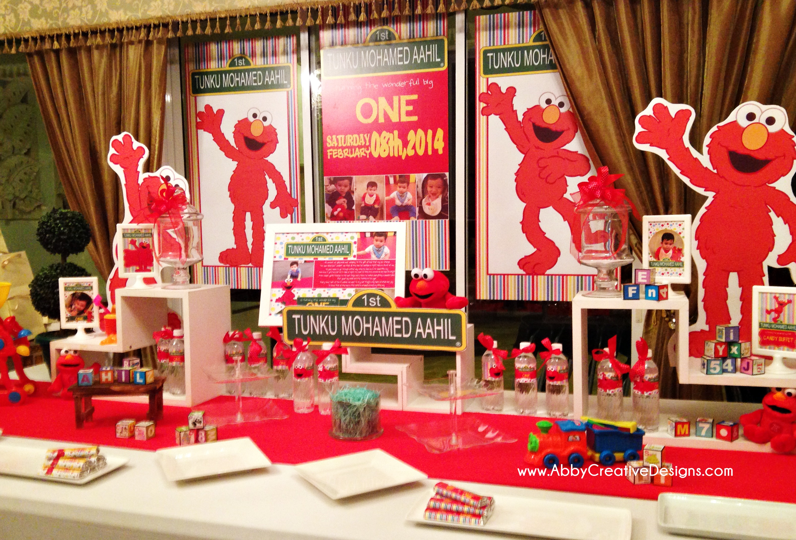 Theme Elmo 1st Birthday for Tunku Mohamed Aahil Its More Than