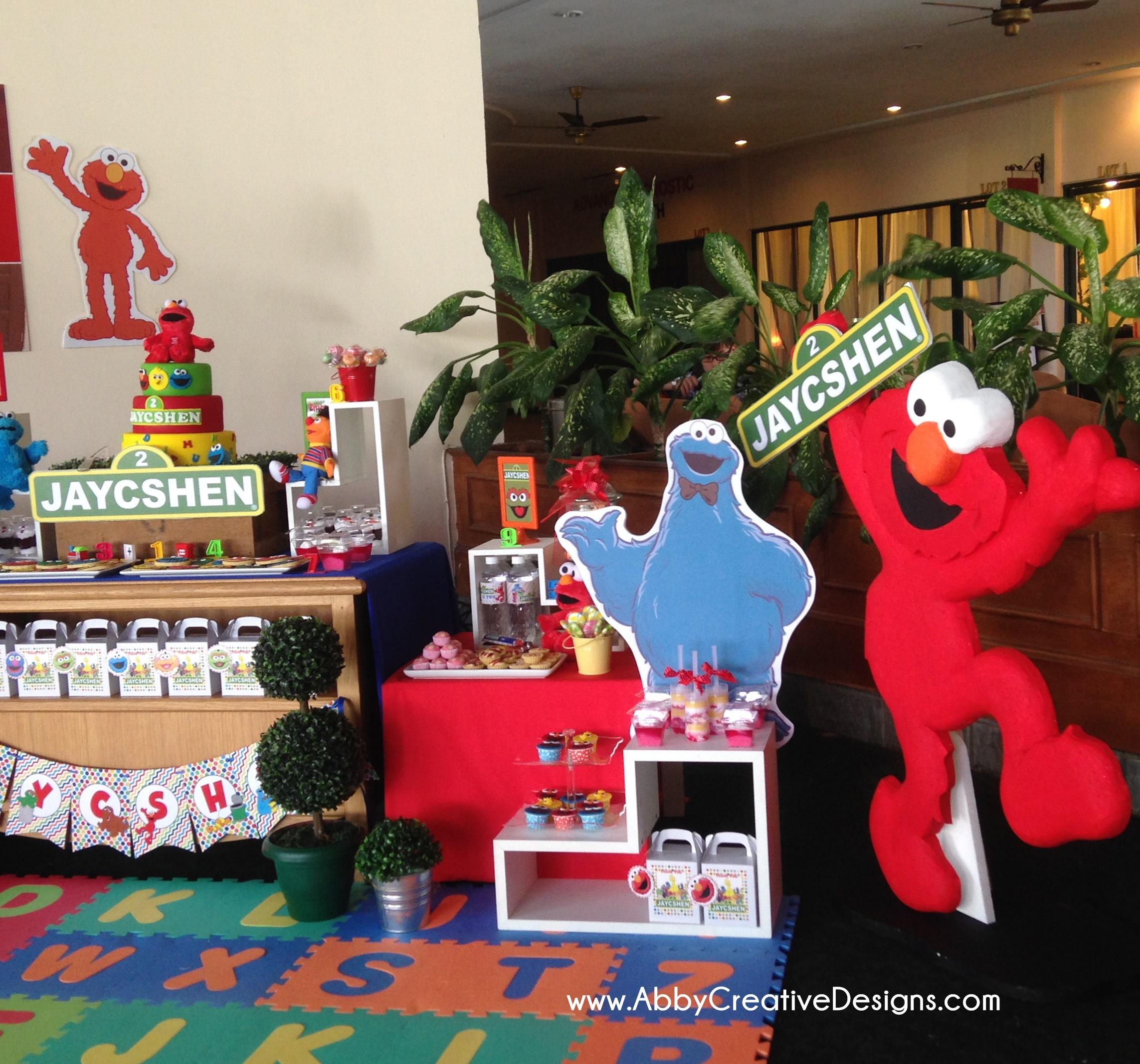 Sesame Street Bedroom Decorations Theme Sesame Street 2nd Birthday Bash For Jaycshen Its More