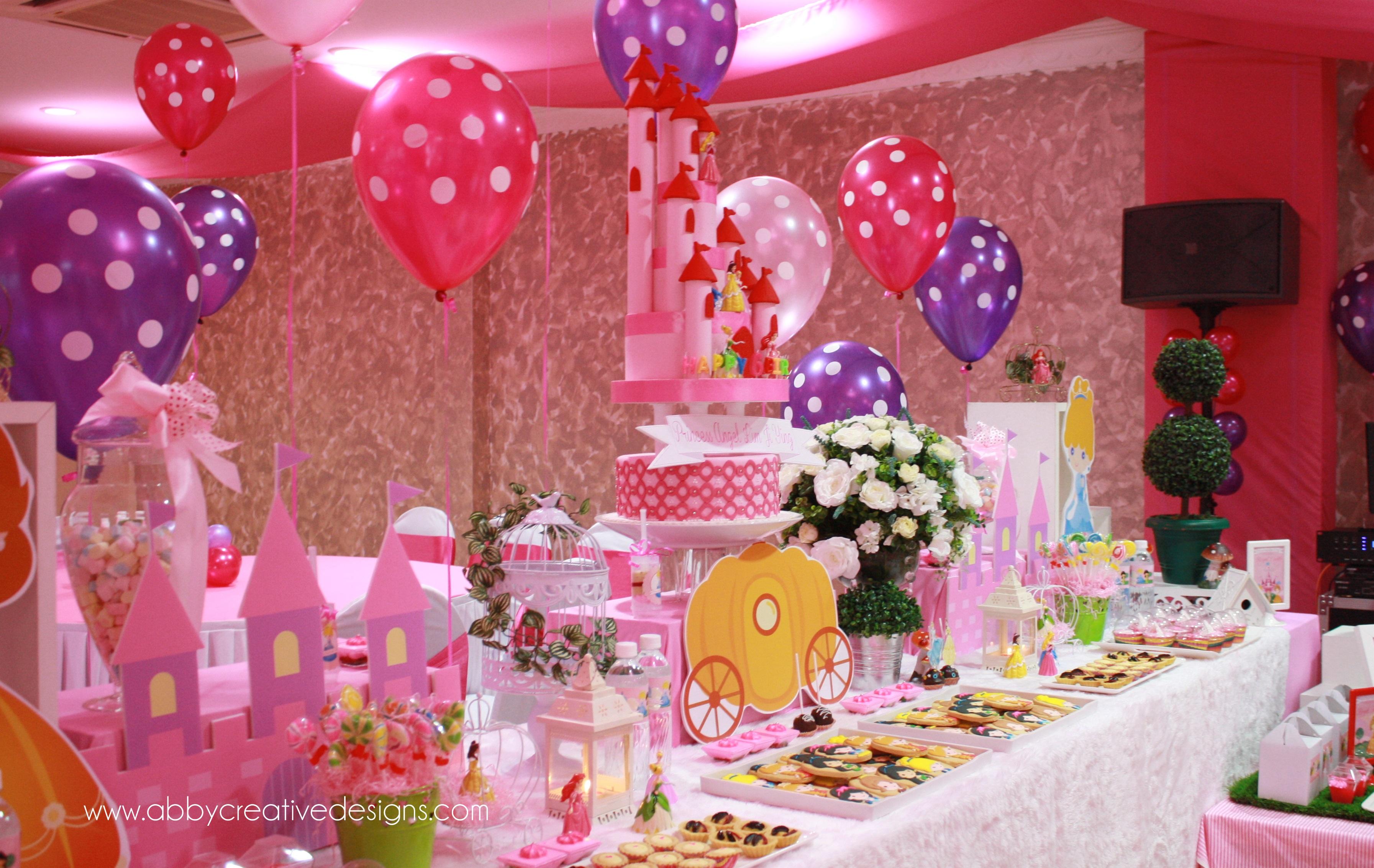 Theme disney princess its more than just a party for Princess dekoration