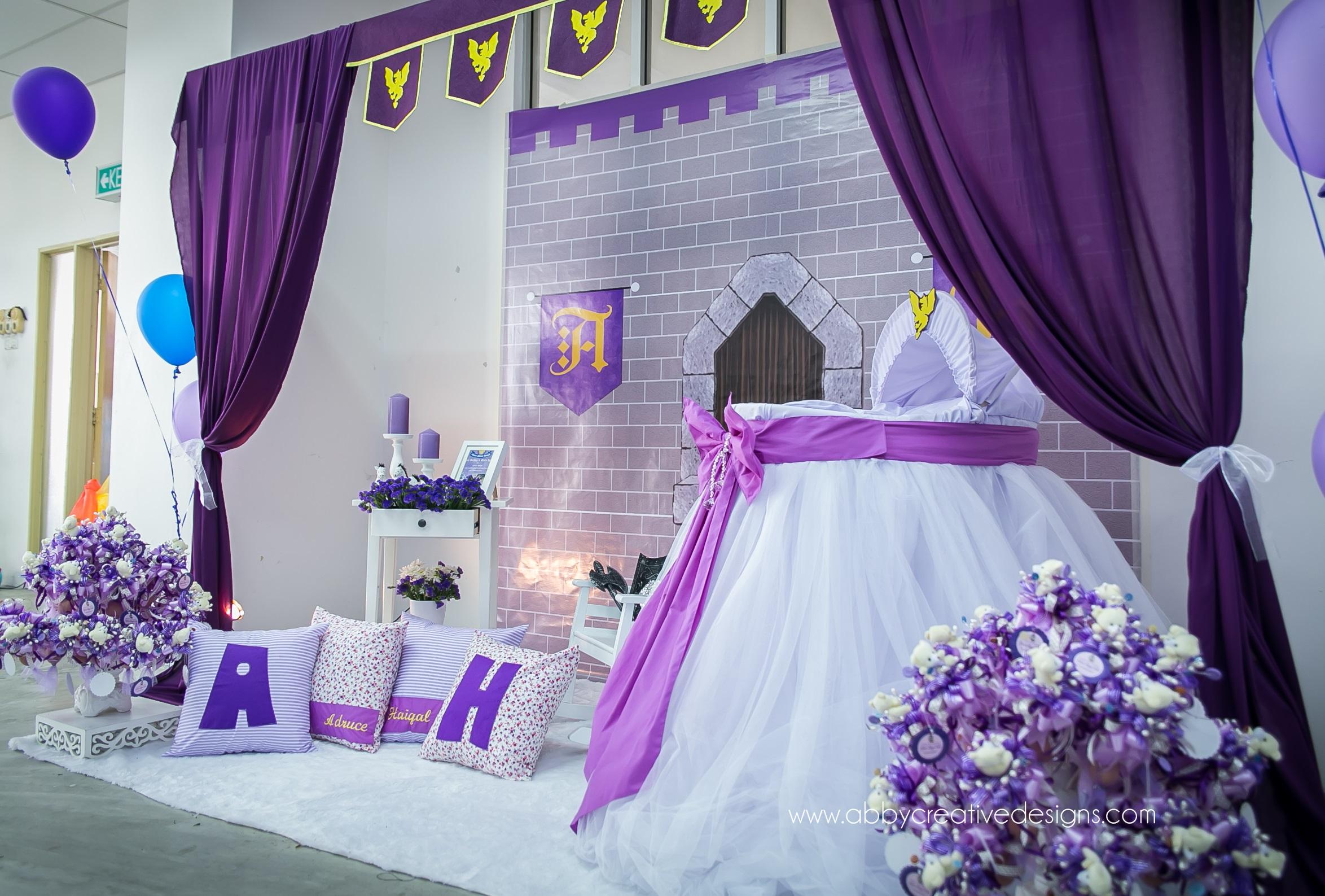 Theme medieval prince room majlis aqiqah its more than for Idea doorgift untuk aqiqah