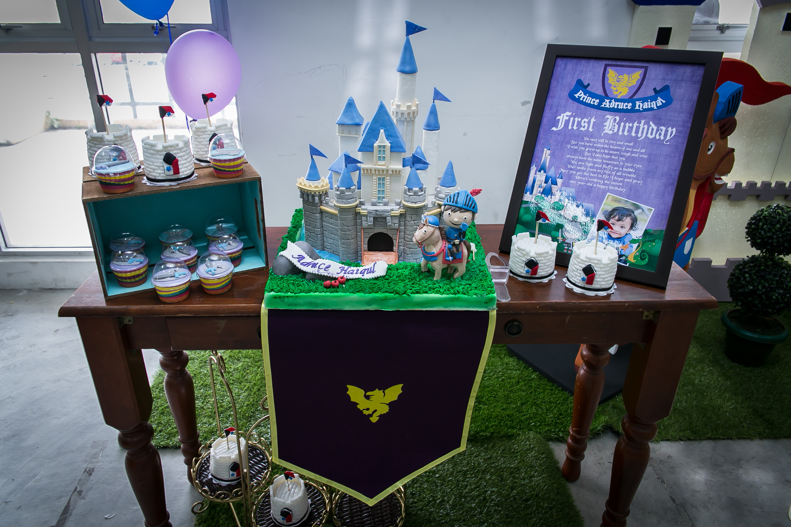 Theme Medieval 1st Birthday For Prince Adruce Haiqal