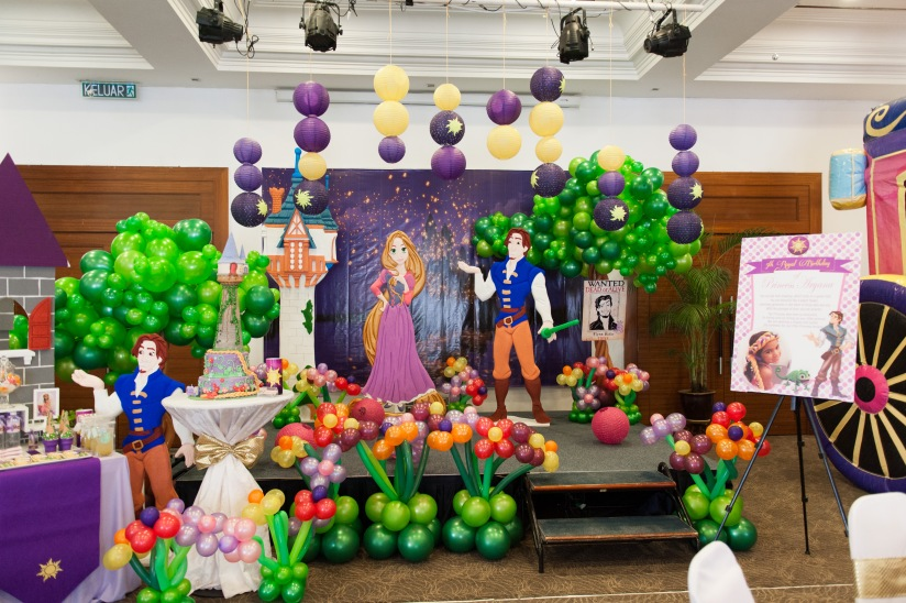 Theme rapunzel tangled 5th birthday for princess aryana for 5th birthday decoration ideas