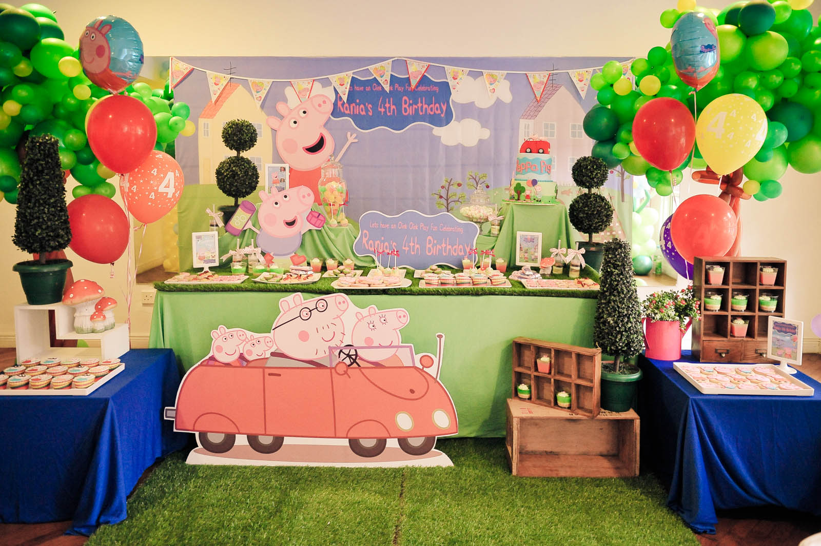 Theme peppa pig abby creative designs by abby sue for Event planning decorating ideas