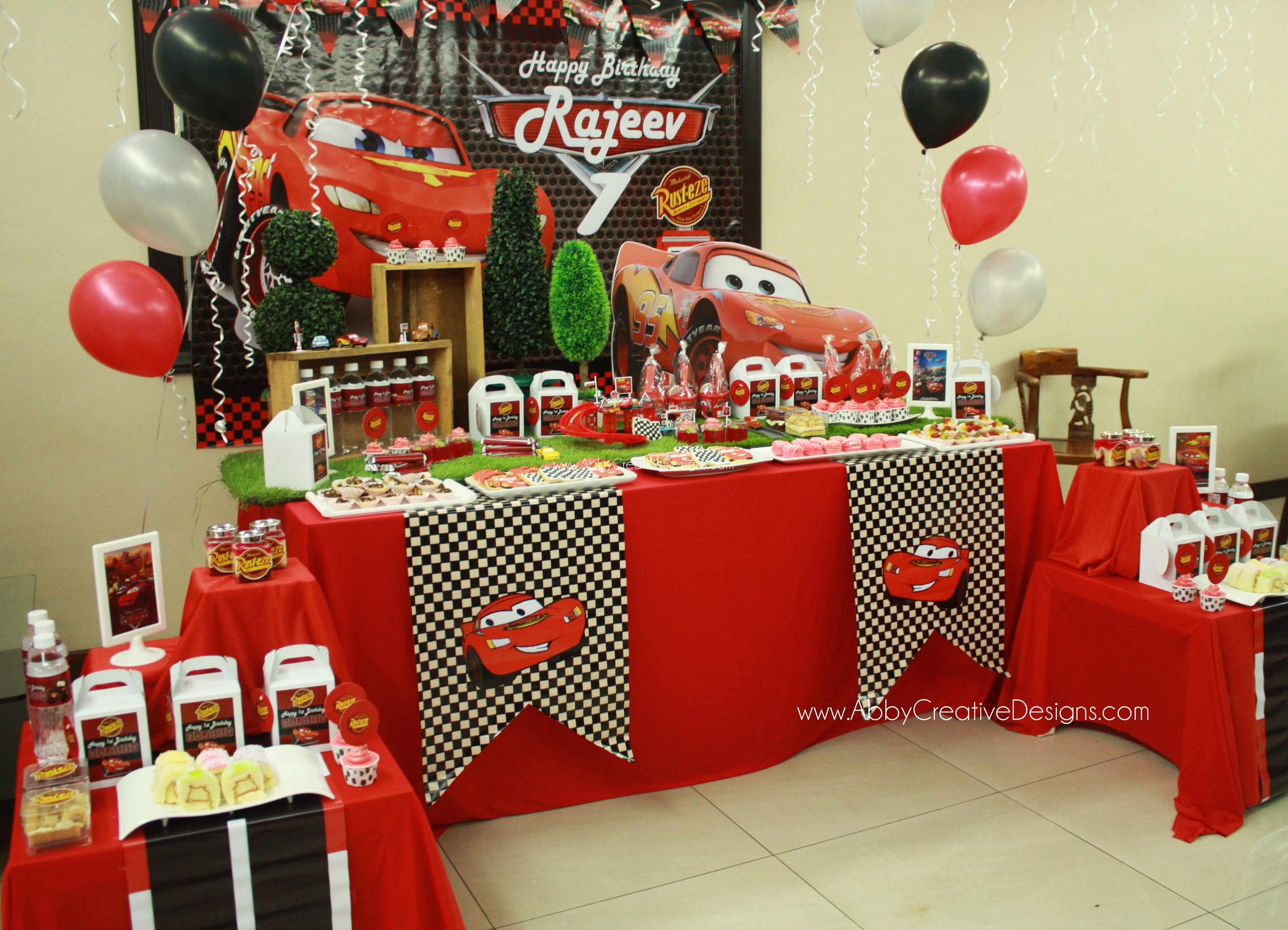 Theme Disney Mcqueen Cars 1st Birthday For Rajeev Its