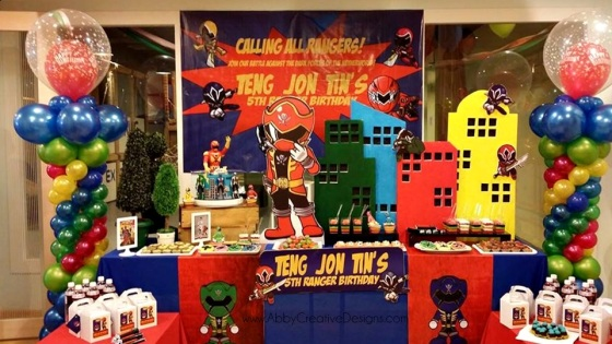 Theme Power Rangers For Jon Tins 5th Birthday