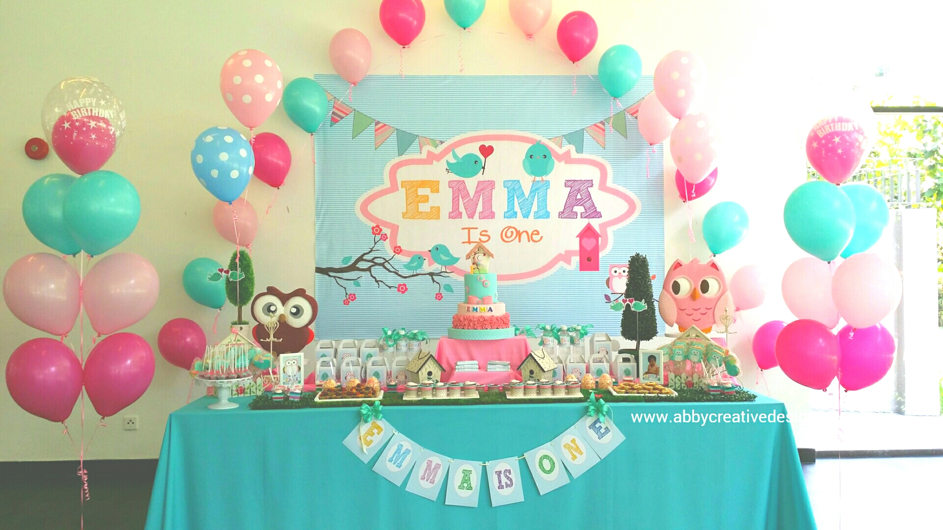 Theme : Bird & Owl 1st Birthday Bash for Little Emma