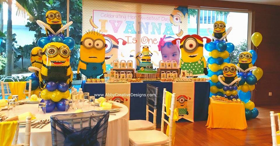 Minions First Birthday Decorations Image Inspiration of Cake and