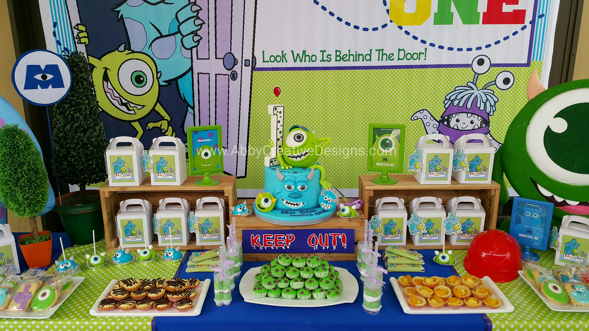 Remarkable Theme Ians Monster Inc 1St Birthday Bash Its More Than Just A Funny Birthday Cards Online Kookostrdamsfinfo