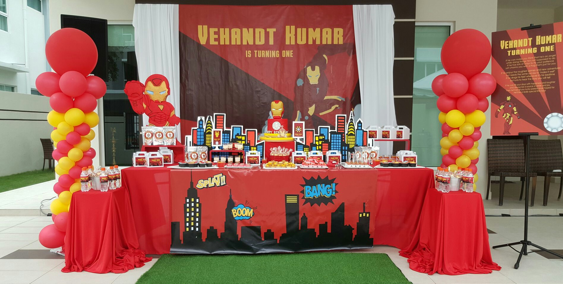 Theme Vehandts 1st Ironman Birthday Its More Than Just A Party