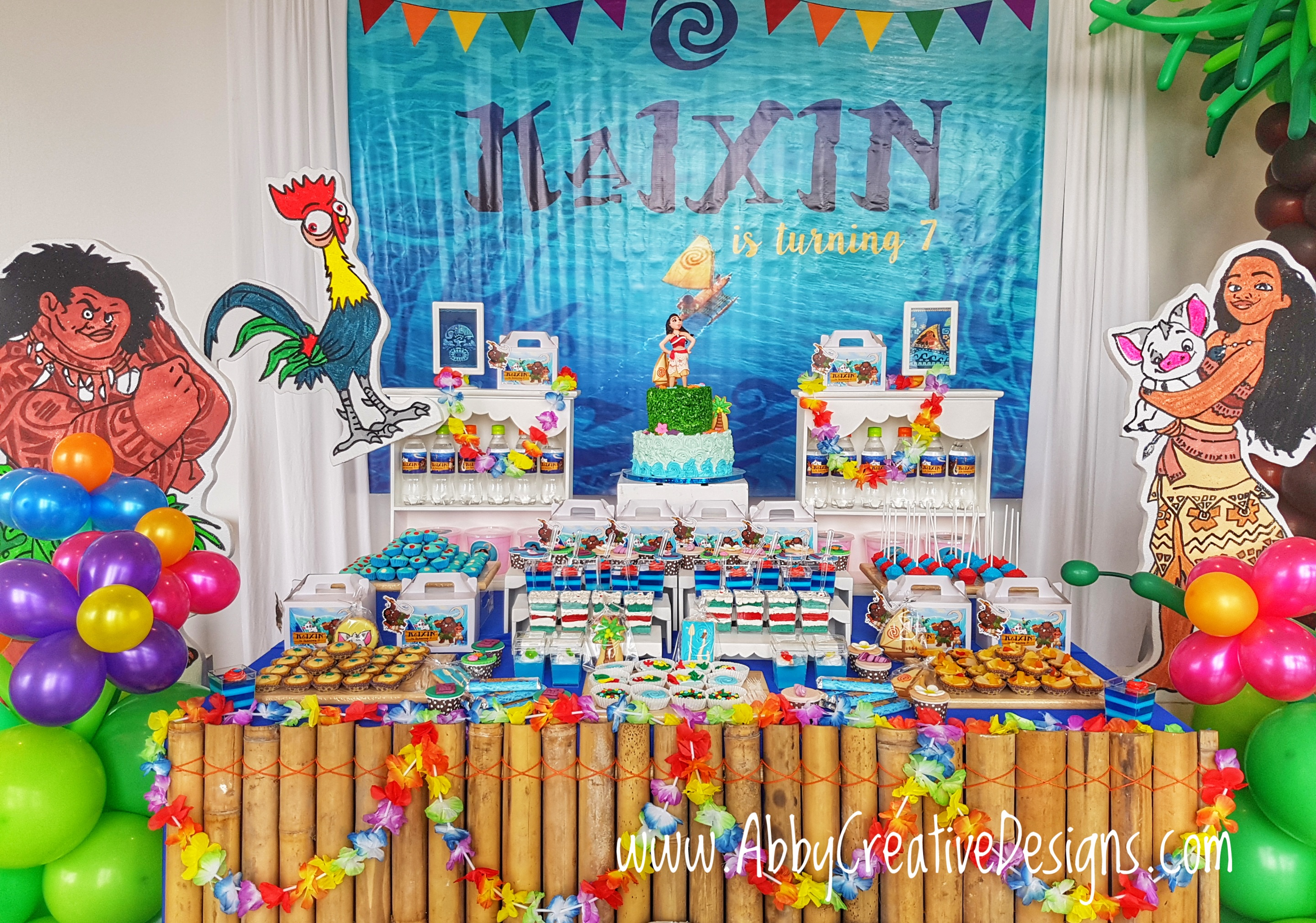 Theme moana s 7th birthday party its more than just a for Decoration ideas 7th birthday party