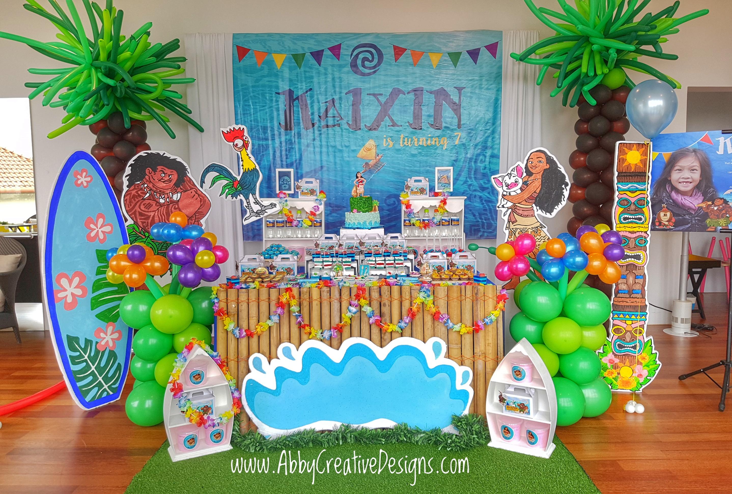 Theme Moanas 7th Birthday Party