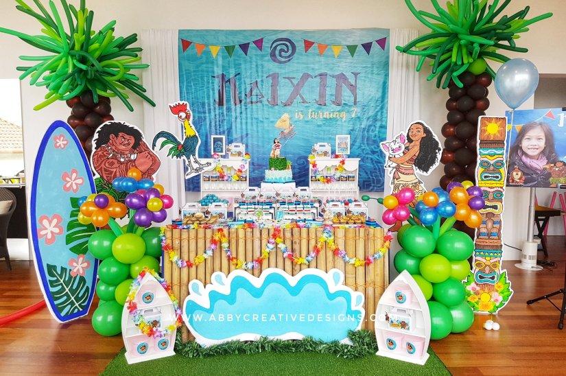 Theme Kaixins 7th Moana Birthday